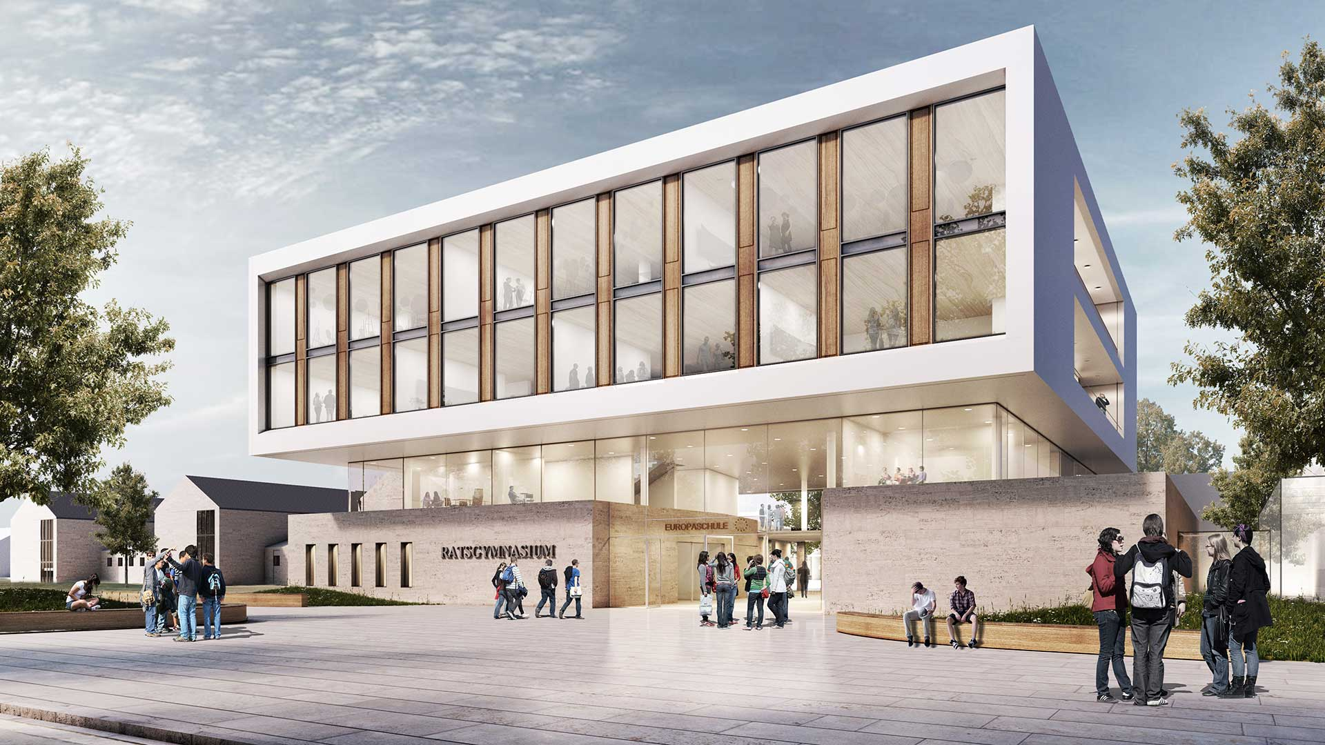 Architekt Wolfsburg struhk architekten projekt wettbewerb ratsgymnasium wolfsburg